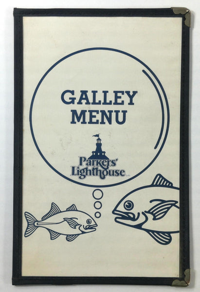 1980's Vintage GALLEY Menu PARKER'S LIGHTHOUSE Restaurant Long Beach California