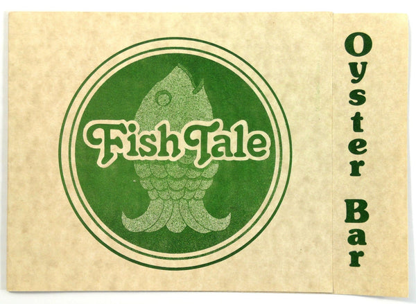 1970's Original OYSTER BAR Menu FISH TALE Restaurant Long Beach San Clemente CA