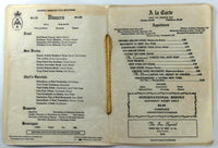 1966 Original Menu MAMMOTH MOUNTAIN INN Restaurant Mammoth Lakes California