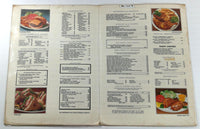 1960's Original LARGE Menu BEIER'S RESTAURANT Merrick Road Freeport New York