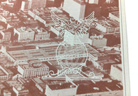 1966 Menu SAN FRANCISCO COMMERCIAL CLUB Aerial Photo CA Merchants Exchange Bldg.
