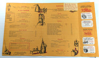 1960's Original Large Menu JORGENSEN'S INN Restaurant Stockholm Snufftown NJ