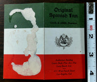 1930's Menu ORIGINAL SPANISH INN The Pike Pine Ave. Pier Long Beach California