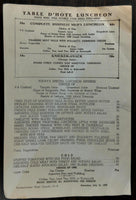 1948 Original Menu KNICKERBOCKER HOTEL Restaurant ??