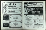 1970's Original Menu LOUIE LOUIE'S Unreal Meals Italian Orange California