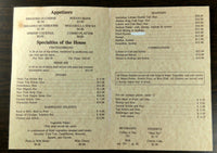 1980's Original Dinner Menu Wine List DESERT OASIS Restaurant Blythe California