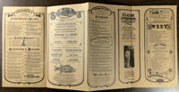 1999 Original Menu CLAIM JUMPER Restaurant Southern California World Wide Web