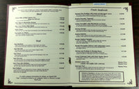 1990's Original Menu KING GEORGE II INN On The Delaware Bristol Pennsylvania
