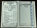 1980's Original Menu GREENLINE DINER Restaurant Princeton New Jersey University