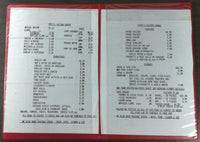 1980's Original Menu MAYO'S HALFWAY HOUSE New Jersey ? Vincetown ? Chatsworth ?