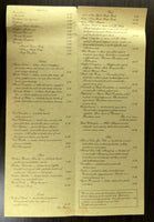 1980's Origial Huge Menu THE EDGE Restaurant St. Louis Missouri LaSalle St.