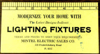 Old Ink Blotter Advertisement MINTEL ELECTRIC SALES CO. San Antonio Texas