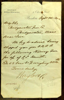 1880 Document Naylor & Co. NORWAY IRON WORKS Boston Ma. Bridgewater Iron Co