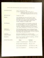 1959 Dwight Eisenhower Information Packet With Photograph Daily Schedule 12-3-58
