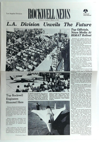 March 13 1978 Los Angeles Div. ROCKWELL INTERNATIONAL NEWS Employee Newsletter