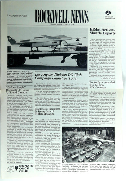 April 10 1978 Los Angeles Div. ROCKWELL INTERNATIONAL NEWS Employee Newsletter