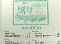 1960's Patsy Gullotta's Original VESUVIO RESTAURANT New York City West 48th St.