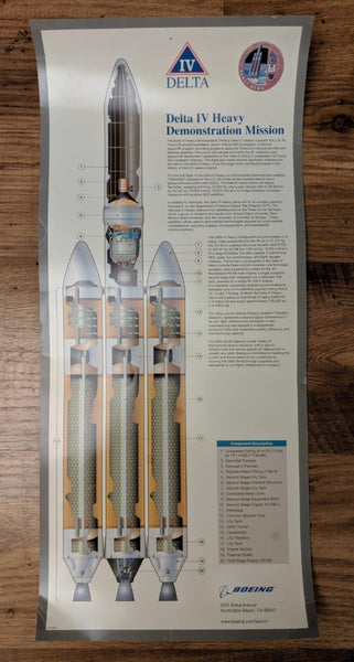 2004 First Flight Launch Poster Boeing DELTA IV Heavy Demonstration Mission