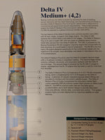 Boeing Poster Wall Chart DELTA IV Medium+ Plus 4,2 Payload Launch Vehicle