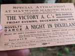 1919 Maywood Masonic Hall Dance Illinois Sim's Colored Jazz Band Victory AC's