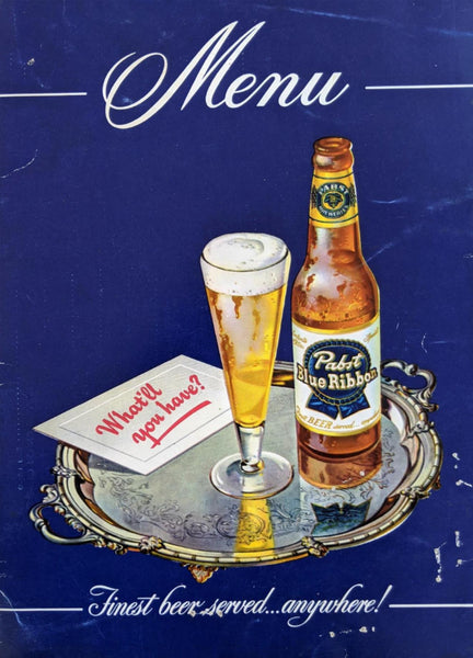1950's Aylward's The Round Up Room Restaurant Chicago Illinois Pabst Beer Cover