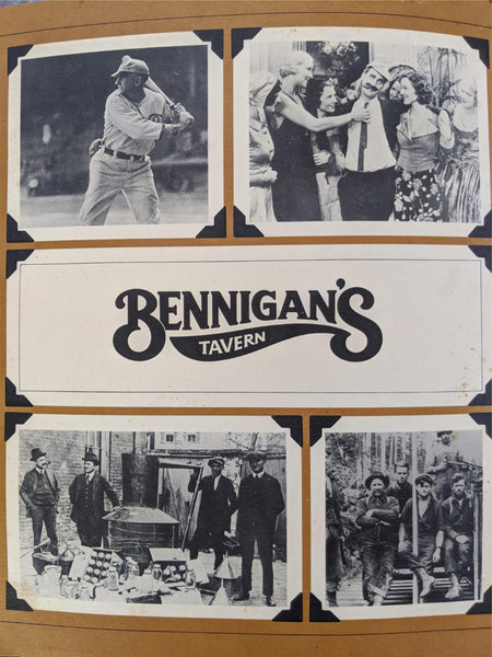 1981 Bennigan's Tavern Restaurant Original Vintage Green Leather Menu