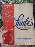 1947 Laube's Old Spain Restaurant Vintage Menu Buffalo & Rochester New York