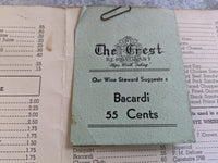 1940's The Crest Restaurant Steps Worth Taking Menu Watertown New York