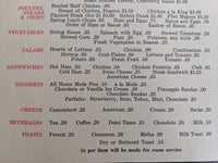 1940's Red Coach Inn Restaurant Original Menu Niagara Falls New York