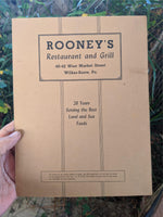 1946 Rooney's Restaurant & Grill Wilkes-Barre Pennsylvania WWII OPA Ration Menu