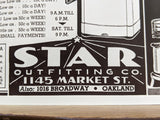 1950's Star Outfitting Co. San Francisco & Oakland California Advert Brochure