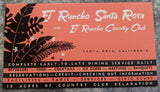 1950's El Rancho Country Club Santa Rosa California Resort Brochure Directory