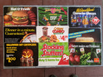 1990's McDonald's Lot Of 10 Vintage Laminated Advertisement Menu Cards 8x11