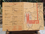 1946 Monarch Cafe Restaurant Reno Nevada Original Vintage Menu