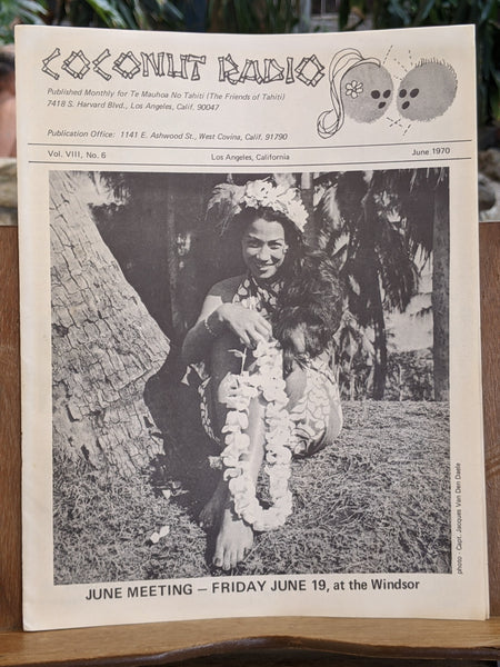 1970 Coconut Radio Newsletter Friends Of Tahiti News Hotels Parties Tiki Girls