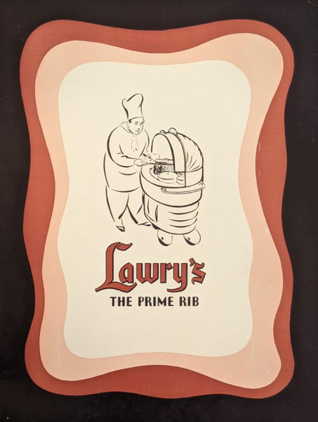 Rare 1943 Lawry's The Prime Rib Restaurant Beverly Hills California Vintage Menu