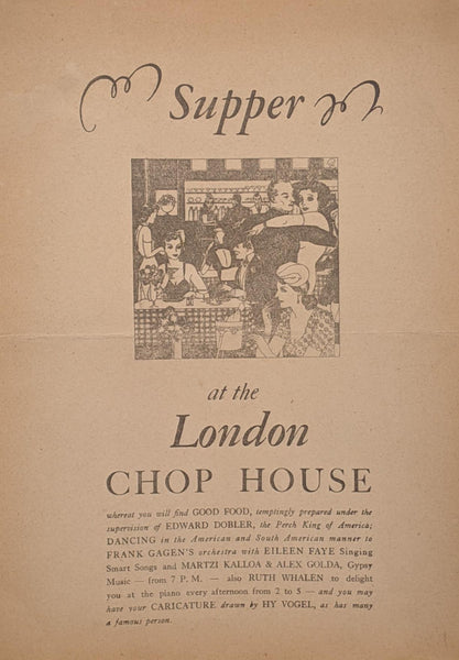 1946 London Chop House Restaurant Detroit Michigan Vintage WWII War Ration Menu