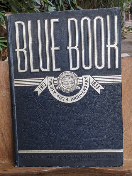 1938 25th Anniv. Blue Book National Association Waste Material Dealers Scrap