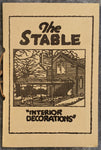 1950's The Stable Restaurant Early-Gary Enterprise Photo Menu Memphis Tennessee