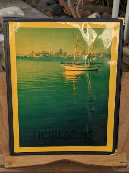 1990's Horizons Restaurant Sausalito California Wine List Menu The Trident