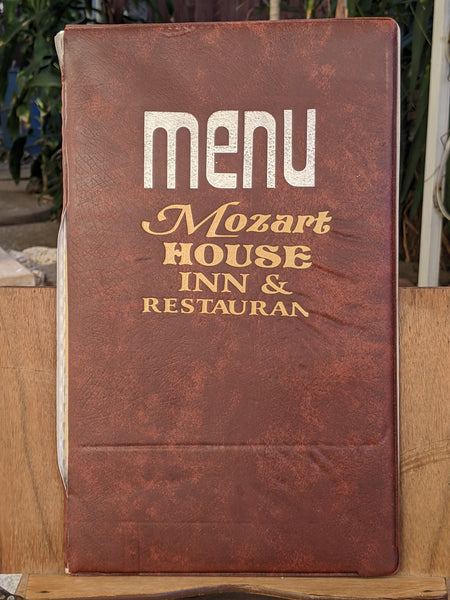 Mozart House Inn & Restaurant Vintage Menu Mystery Location