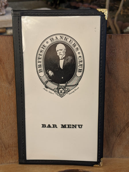 British Bankers Club Restaurant Vintage Bar Menu Menlo Park California