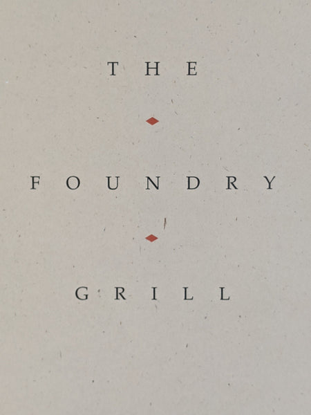 The Foundry Grill Restaurant Sundance Utah Vintage Menu