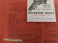 1940's - 1950's Blue Star Inn American Chinese Menu Fort Worth & Austin Texas