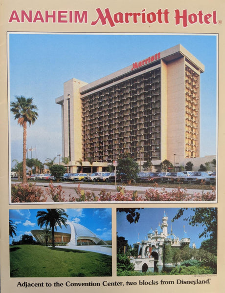 1980's Vintage Booklet Brochure Color Photos Anaheim Marriott Hotel California