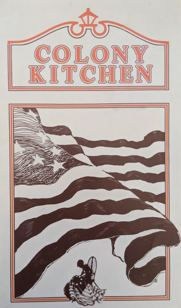 1970's Large Size Laminated Menu Colony Kitchen Restaurant