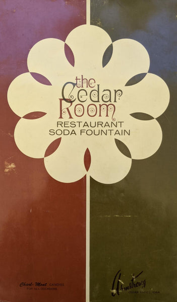 1971 Menu Armstrong's The Cedar Room Restaurant Soda Fountain Cedar Rapids Iowa