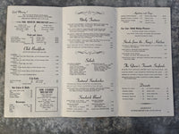 1970's The Camelot Room Service Restaurant Menu Des Plaines Iowa