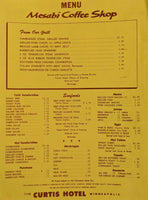 1970's Mesabi Coffee Shop Restaurant The Curtis Hotel Minneapolis Minnesota