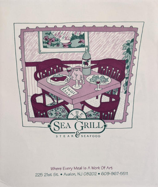The Sea Grill Steak & Seafood Restaurant Menu Avalon New Jersey